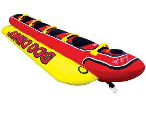 AIRHEAD JUMBO HOT DOG 5 Riders Inflatable Towable Tube HD-5 Free Shipping
