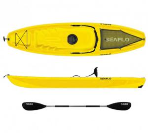 Seaflo SF1003 Yellow μονοθέσιο καγιάκ  με ενσωματωμένη ρόδα στην πρύμνη και κουπί,Κίτρινο