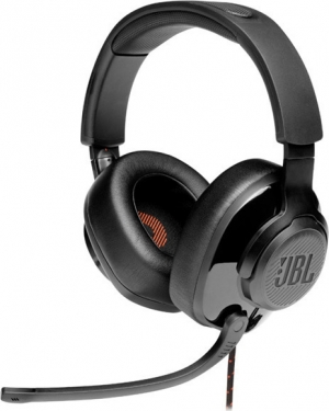 JBL Quantum 300 Black Over-Ear Wired Gaming Headset, Surround