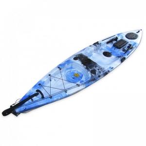 Leisure Dave Updated μονοθέσιο καγιάκ για ψάρεμα με τιμονιέρα  Άσπρο/Μπλε/Μαύρο