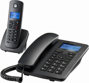 Motorola C4201 Ασύρματο Τηλέφωνο Duo με Aνοιχτή Aκρόαση