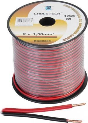 Cabletech DM-0385.Καλώδιο 100m Κουλούρα 2x1.50mm Χαλκος
