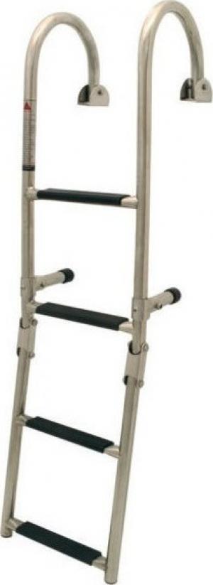 Σκάλα 4 Σκαλοπατια αναδιπλούμενη καθρέπτου κουπαστής Inox SS316