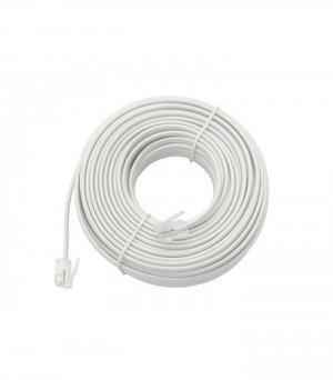 DM-2146 Καλώδιο τηλεφώνου 15M λευκό