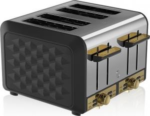 Swan 4 Slice Metal Toaster – Φρυγανιερα Μαύρη