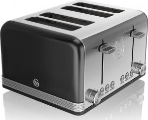 Swan Retro 4 Slice Toaster – Φρυγανιερα Μαύρη