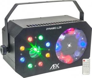 DYNAMIC-LZR. 3-IN-1 Led light effect. Gobo Wash/strobe laser from Afx Light