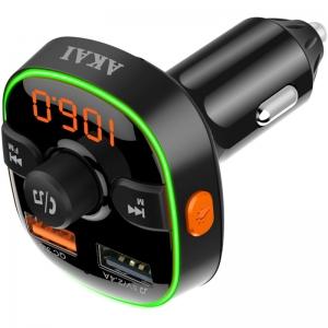 Akai FMT-52BT FM transmitter με LED, Hands Free, φορτιστή , BT, micro SD, και 2 USB