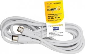 Heitech 09002001Καλώδιο κεραίας αρσενικό σε θηλυκό 2.5 m