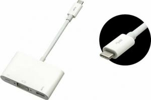 Blow 76-102 USB-C male - USB-A / USB-C / VGA female