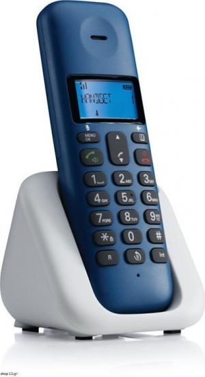 Motorola T301 Royal Blue (Ελληνικό Μενού) Ασύρματο τηλέφωνο με ανοιχτή ακρόαση