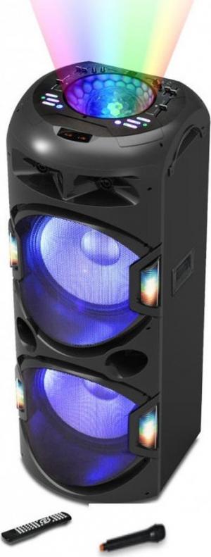 Akai DJ-Y5L Bluetooth karaoke party speaker με μίκτη, LED και ασύρματο μικρόφωνο – 350 W RMS
