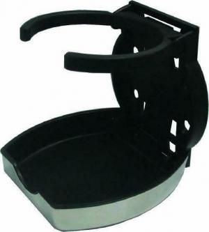 Ποτηροθηκη Μαυρη Αναδιπλουμενη Πλαστικη με καπακι INOX 304 (04659)
