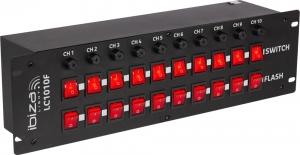 Ibiza LC1010F Κονσόλα φωτισμού με 10 κανάλια και διακόπτες Rack
