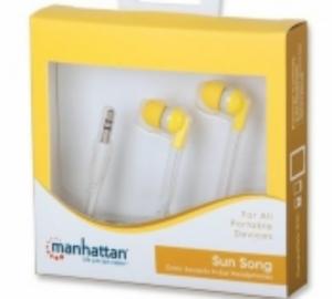 Manhattan 178297 Ακουστικα in-ear κιτρινα