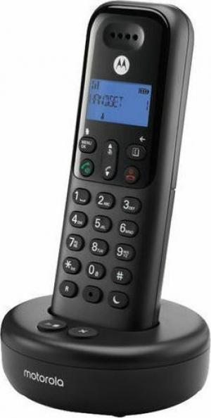 Motorola T511 Black (Ελληνικό Μενού) Ασύρματο τηλέφωνο με τηλεφωνητή, φραγή αριθμών, ανοιχτή ακρόαση και Do Not Disturb