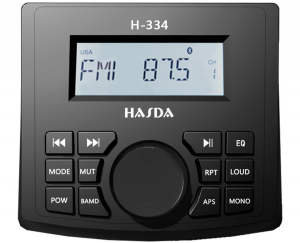 Hasda H-334 Radio -USB-BT-AUX - Marine