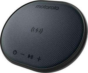 Motorola SONIC SUB 500 BLACK Ασύρματος φορτιστής 10 W και αδιάβροχο Smart φορητό ηχείο Bluetooth 5.0 με TWL και Aux-In – 10 W