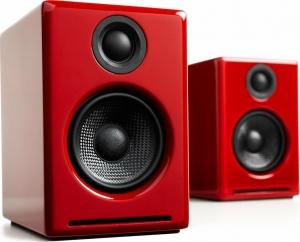Audioengine A2+ Wireless Gloss Red Ασύρματα Αυτοενισχυόμενα Ηχεία Υπολογιστή (Gloss Red)
