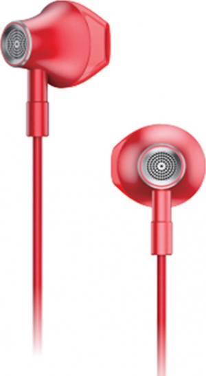 Lenovo HF140 Large Unit Semi In Ear Metal Earphone –Κόκκινο