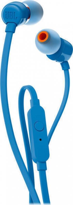 JBL T110 Μπλε In Ear Universal Headphones 1-button Mic/Remote