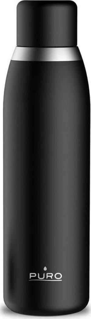 Puro Smart Bottle Double Wall 500ml Θερμός – Μαύρο