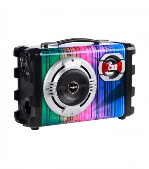 Rebel KOM0836 Φορητό σύστημα 20W (μικρόφωνο, MP3, BT, Ραδιόφωνο FM και Karaoke)