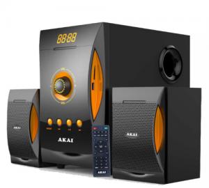 Akai SS032A-3515 Ηχοσύστημα 2.1 με Bluetooth, USB, SD και ραδιόφωνο – 38 W