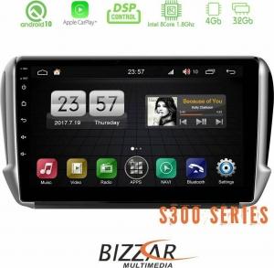Bizzar S300L Peugeot 208/2008 Android 10 Multimedia Station