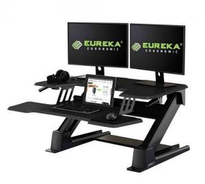 Eureka Ergonomic CV-PRO 36 Gaming Γραφείο Black (90x81.5x14cm)