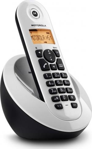 Motorola C601W Λευκό (Ελληνικό Μενού) Ασύρματο τηλέφωνο με ανοιχτή ακρόαση