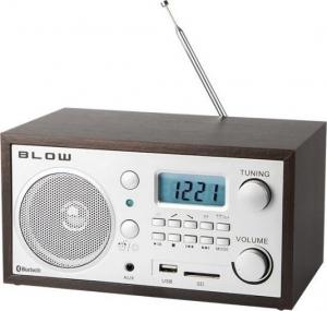 Blow RA2 Φορητό αναλογικό ραδιόφωνο με LCD οθόνη, Bluetooth, USB, SD, AUX in (Καφέ)