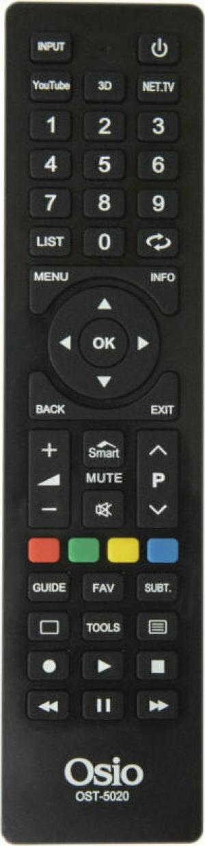 Osio OST-5020-6A Τηλεχειριστήριο για smart τηλεοράσεις SAMSUNG, LG, SONY, PHILIPS, PANASONIC, TELEFUNKEN