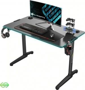 Γραφείο Gaming I44 με Μεταλλικά Πόδια Black 112x60x76.5cm