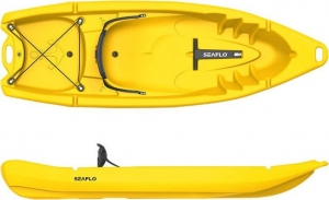 Seaflo Primus 2. SF-2002 Yellow Μονοθέσιο καγιάκ 1+1 θέσεων με κουπί - Κίτρινο