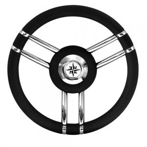 Τιμόνι Savoretti Armando 35cm με 6 καμπύλες ακτίνες Χρωμα Μαυρο