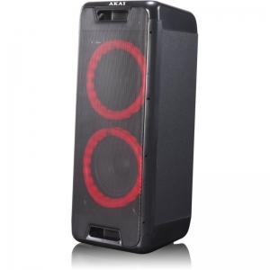 Akai DJ-880 Φορητό Bluetooth party speaker με LED, TWS για σύνδεση με δεύτερο και υποδοχή για μικρόφωνο και όργανο – 100 W RMS