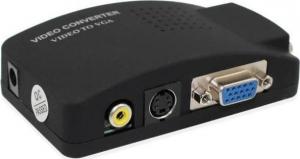 RCA / VGA female - S-Video / VGA (QY-V02)