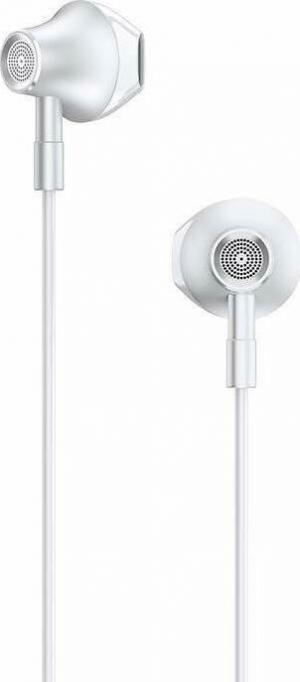 Lenovo HF140 Large Unit Semi In Ear Metal Earphone – Άσπρο