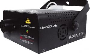 Ibiza LSM500LAS 2-Σε-1Μηχανή ομίχλης με κόκκινο και πράσινο Laser εφφέ 130MW