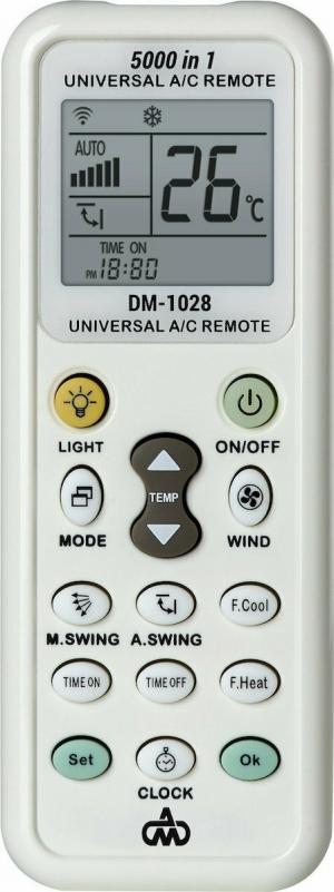 DM-1028 Τηλεκοντρόλ Κλιματιστικού με φακό LED