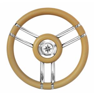 Τιμόνι Savoretti Armando 35cm με 6 καμπύλες ακτίνες Χρωμα Μπεζ