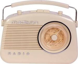 Madison MAD-VR60 Φορητό ραδιόφωνο RETRO-νοσταλγικής εμφάνισης, με bluetooth & AM/FM