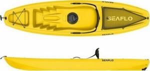 SeaFlo Puny SF-1003 Yellow Μονοθέσιο καγιάκ με ενσωματωμένη ρόδα στην πρύμνη και κουπί - Κίτρινο