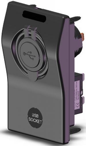 Αδιάβροχος πίνακας USB & φις αναπτήρα