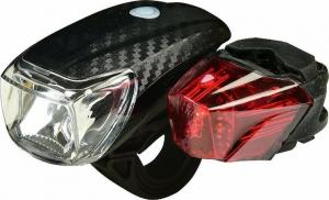Heitech 04003501 Σετ LED φώτα αδιάβροχα ποδηλάτου λευκό – κόκκινο