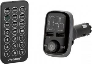 Peiying URZ0465 Πομπός FM Bluetooth 4.2, 2xUSB, AUX, Τηλεκοντρόλ