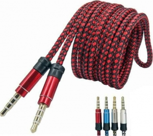 ANDOWL QY-W09R 4pole Stereo Audio Καλωδιο Jack 3.5mm Male to Male 1m Red