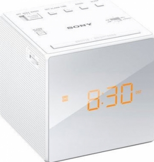 Sony ICF-C1W Ψηφιακό Ρολόι Επιτραπέζιο με Ξυπνητήρι White
