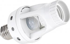 Kemot BG-3149-1 E27 Λευκό Υποδοχή Λαμπτήρα με Φωτοκύτταρο